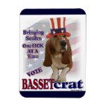 Basset Hound Political Humor Vinyl Magnet