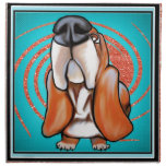 Basset Hound Pop Art Abstract  Glitter Name Cloth Napkins