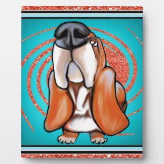 Basset Hound Pop Art Abstract  Glitter Name Plaque
