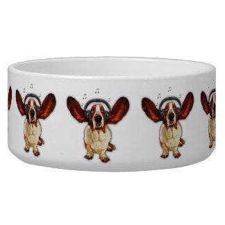 Basset Hound Pop Art Large Pet Bowl