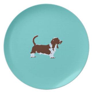 Basset Hound Pop Art Plate