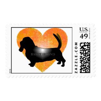 Basset Hound Postage Stamps