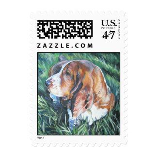 basset hound postage stamp