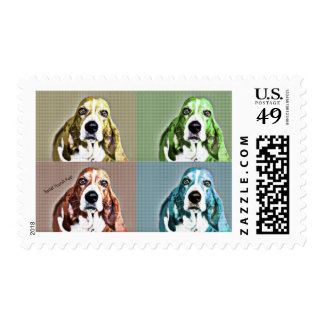 Basset Hound Postage Stamp by Focus for a Cause