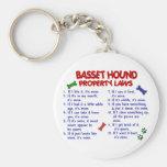BASSET HOUND Property Laws 2 Key Chain