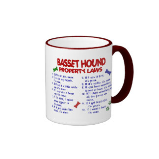 BASSET HOUND Property Laws 2 Ringer Coffee Mug