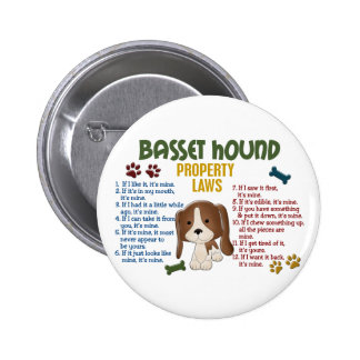 Basset Hound Property Laws 4 Button