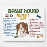 Basset Hound Property Laws 4 Mousepads