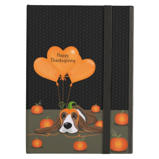 Basset Hound Pumpkin Hat   Case For iPad Air