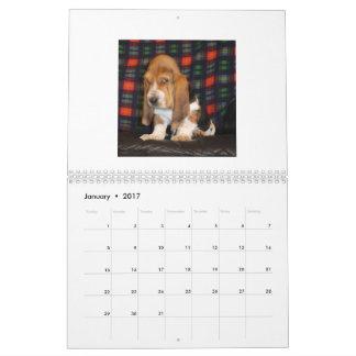 Basset Hound puppy calendar