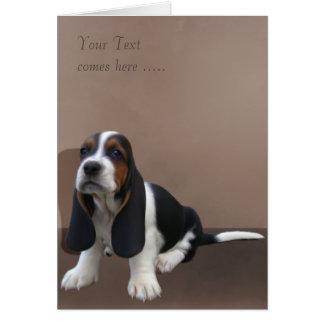 Basset Hound Puppy Card