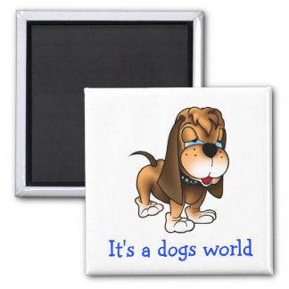 Basset Hound Puppy Dog Fridge Magnet