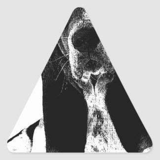 Basset Hound Puppy French Triangle Sticker