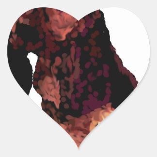 Basset Hound Puppy Heart Sticker
