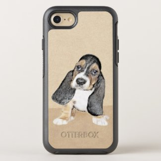 Basset Hound Puppy OtterBox Symmetry iPhone 8/7 Case