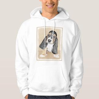 Basset Hound Puppy Painting - Original Dog Art Hoodie