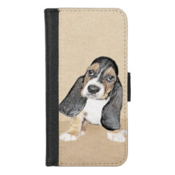 iPhone 8/7 Wallet Case with Basset Hound Phone Cases design