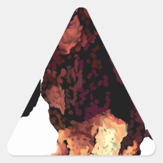 Basset Hound Puppy Triangle Sticker