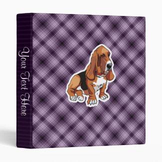"Basset Hound púrpura Carpeta 1"""