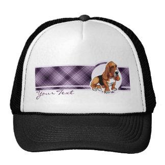 Basset Hound púrpura Gorro