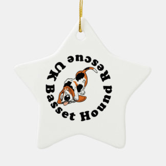 Basset Hound Rescue Ceramic Ornament