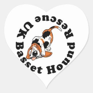 Basset Hound Rescue Heart Sticker