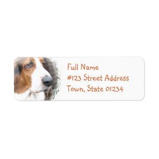 Basset Hound Return Address Label