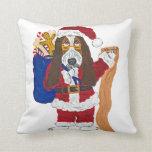 Basset Hound Santa Checking List Of Good Bassets Pillows