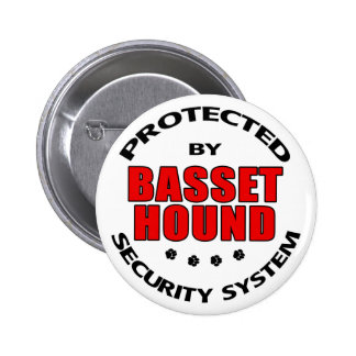 Basset Hound Security Pinback Button