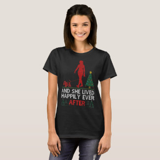 Basset Hound She Lived Happily Ever Christmas Tees