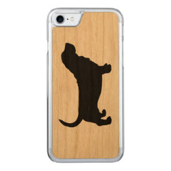 Carved Apple iPhone 7 Wood Case with Basset Hound Phone Cases design