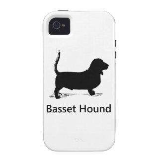 Basset Hound Silhouette iPhone 4/4S Case