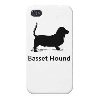 Basset Hound Silhouette iPhone 4 Cover