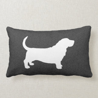 Basset Hound Silhouette Lumbar Pillow