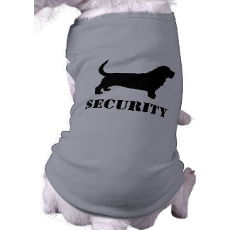 Basset Hound Silhouette - SECURITY Dog T-Shirt