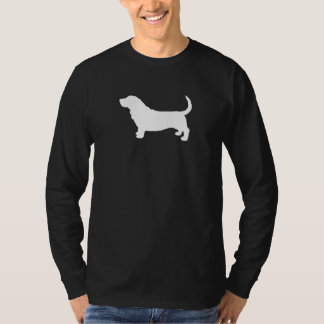 Basset Hound Silhouette T Shirt