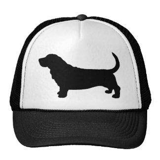Basset Hound Silhouette Trucker Hat