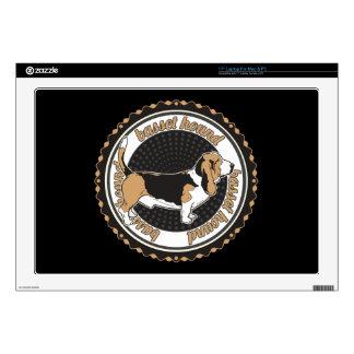 "Basset Hound Skins For 17"" Laptops"