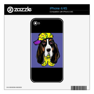 Basset Hound Skin For The iPhone 4