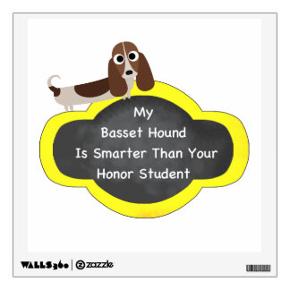 Basset Hound Smarter Wall Sticker