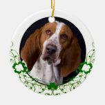 Basset Hound St Patrick's Day Ornament