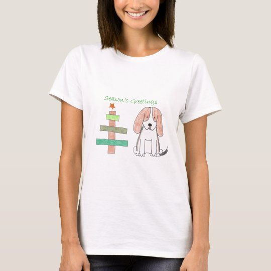Basset Hound Stick Tree T-Shirt