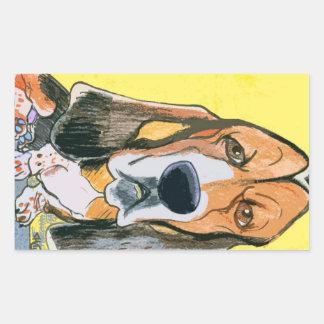 Basset Hound Rectangular Sticker