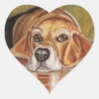 Basset Hound: Tate Heart Sticker