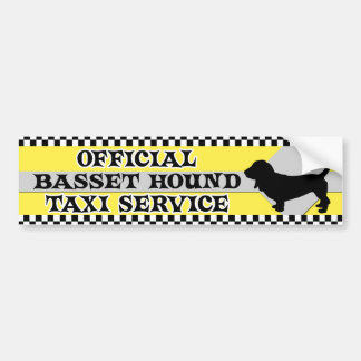 Basset Hound Taxi Service Bumper Sticker Car Bumper Sticker
