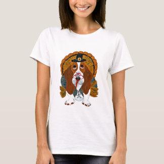 Basset Hound Thanksgiving Turkey T-Shirt