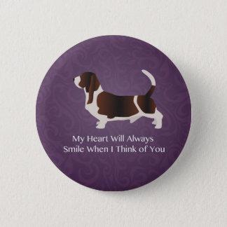Basset Hound Thinking of You Design Button