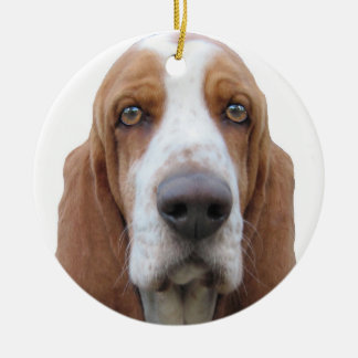 Basset Hound To Howl About Ceramic Ornament