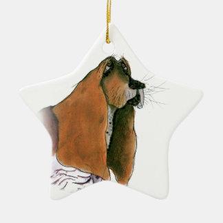 basset hound, tony fernandes ceramic ornament