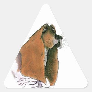 basset hound, tony fernandes triangle sticker